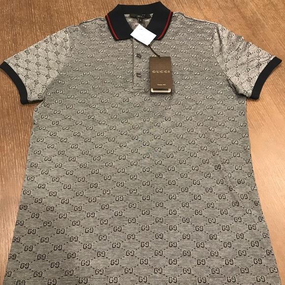 52e43e23 Gucci Shirts | Gg Pattern Polo | Poshmark